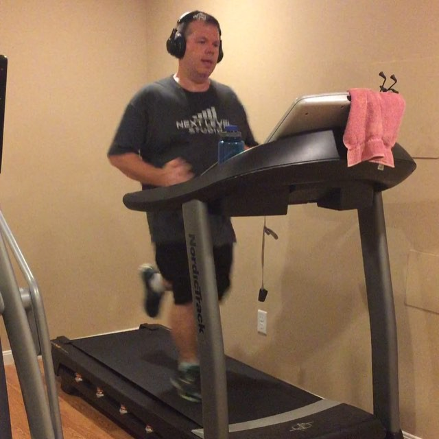 Just completed another 3.1 mile (5K) run on the treadmill. #TrainWithCliff